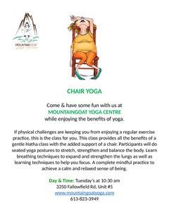 New chair yoga class